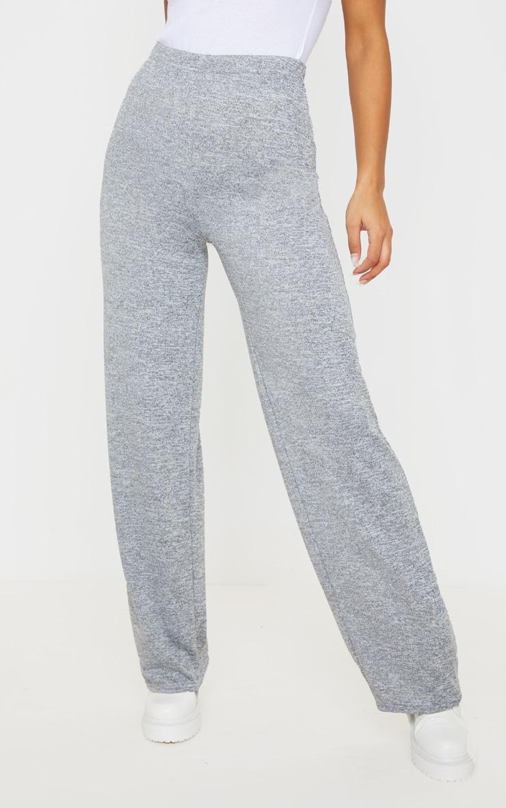 Grey Marl Wide Leg Trouser 2