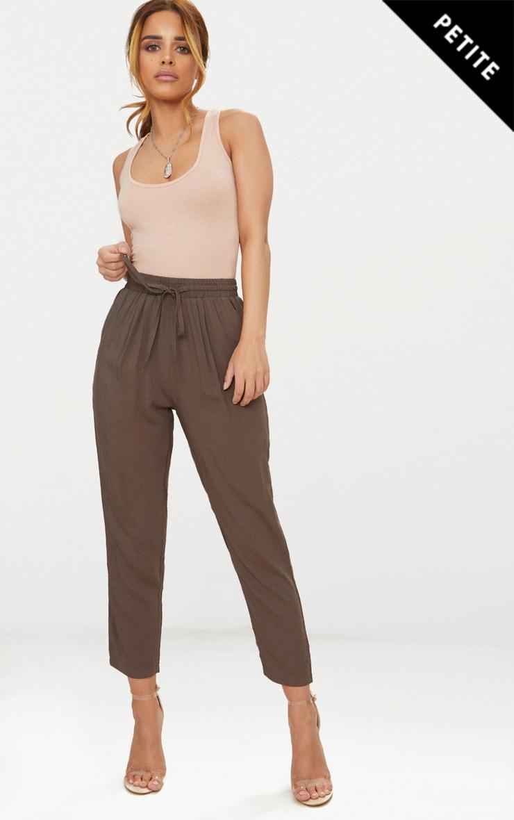Petite Khaki Casual Trousers