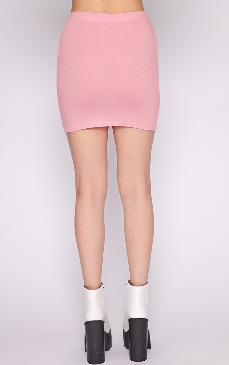Basic Pink Jersey Mini Skirt 4