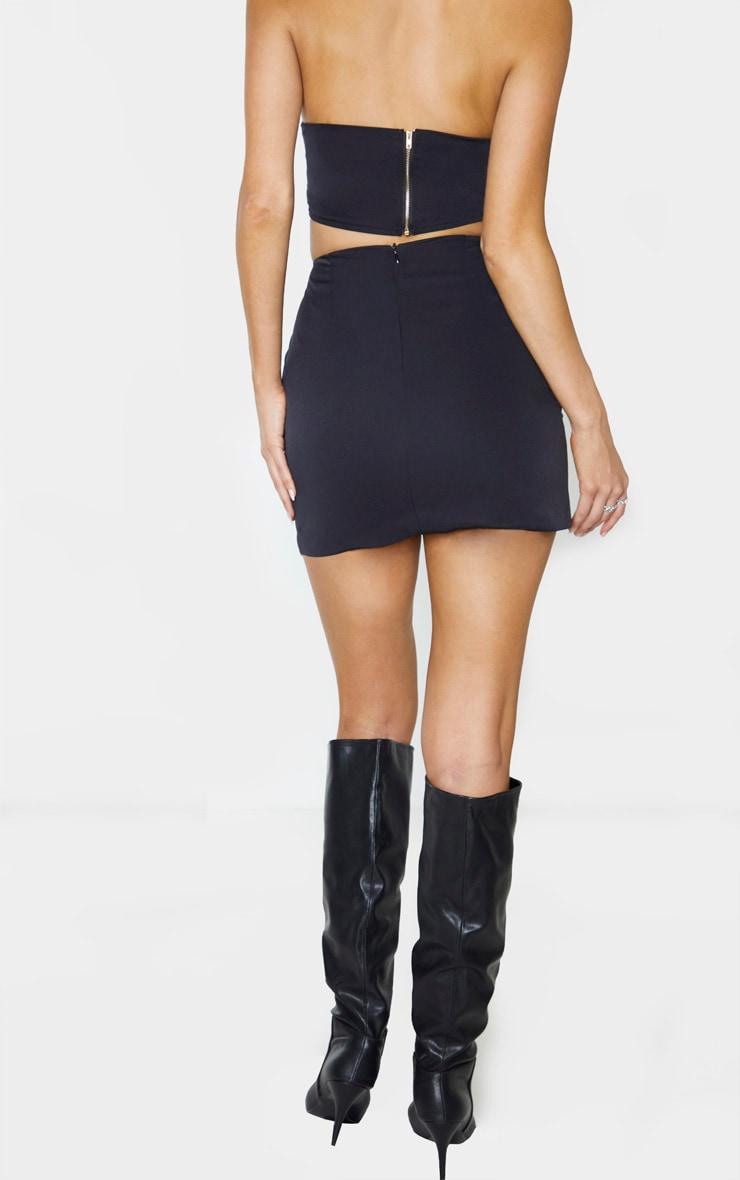 Tall Black Woven Mini Skirt 4