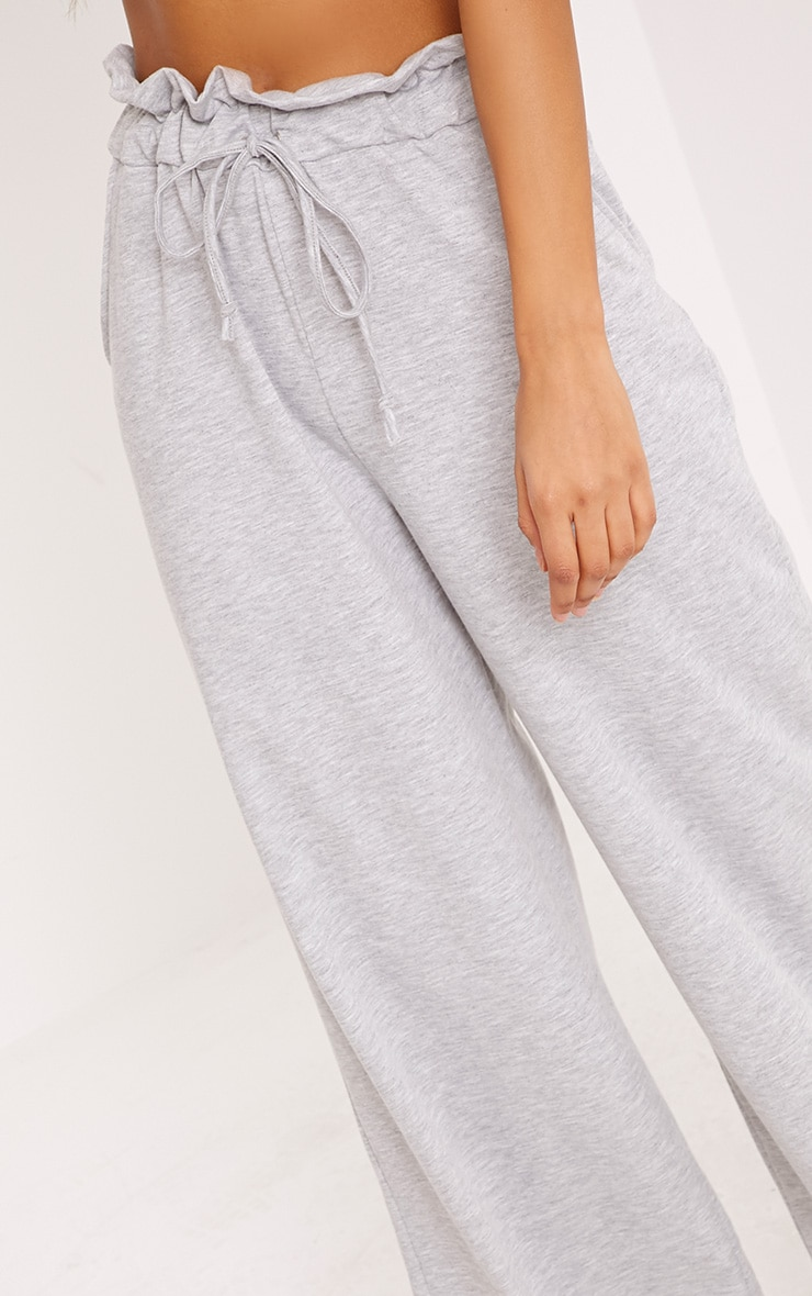 Jessey Grey Paperbag Wide Leg Trousers 5