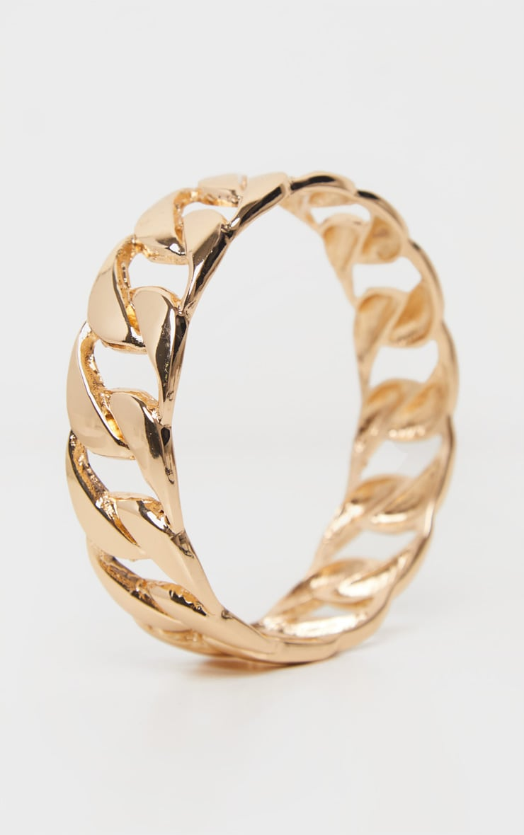 Gold Chain Bangle 2