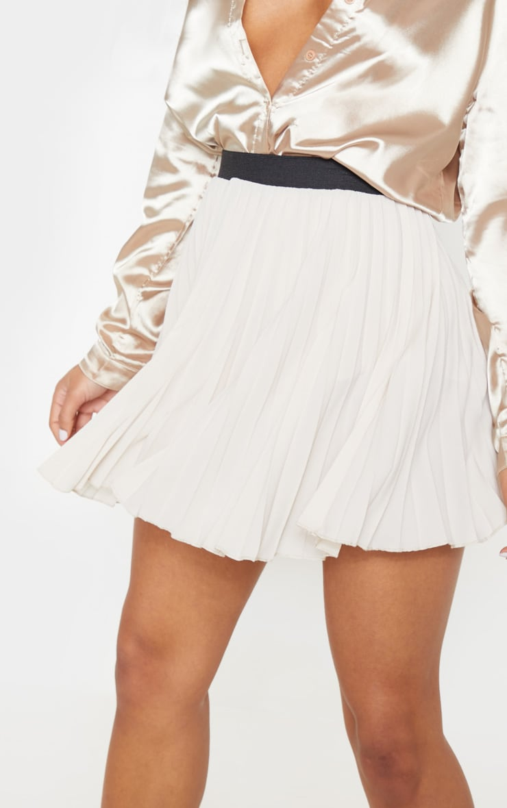 Stone Pleated Mini Skirt 6