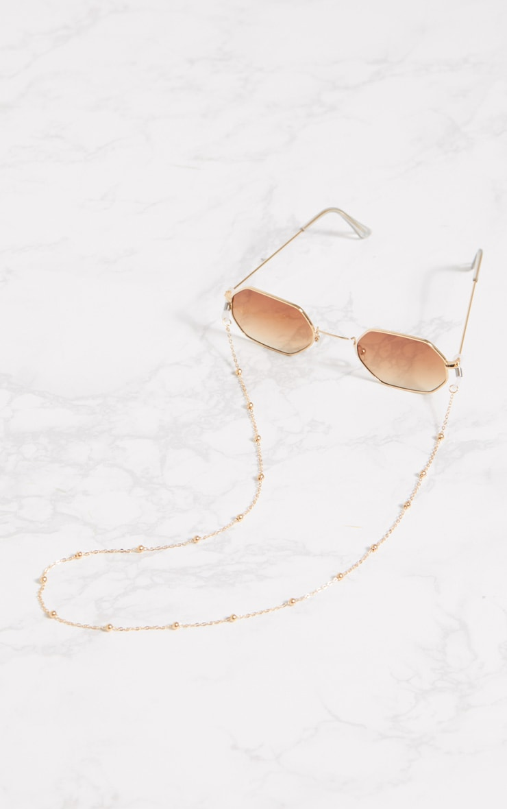 Gold Beaded Sunglasses Chain 3