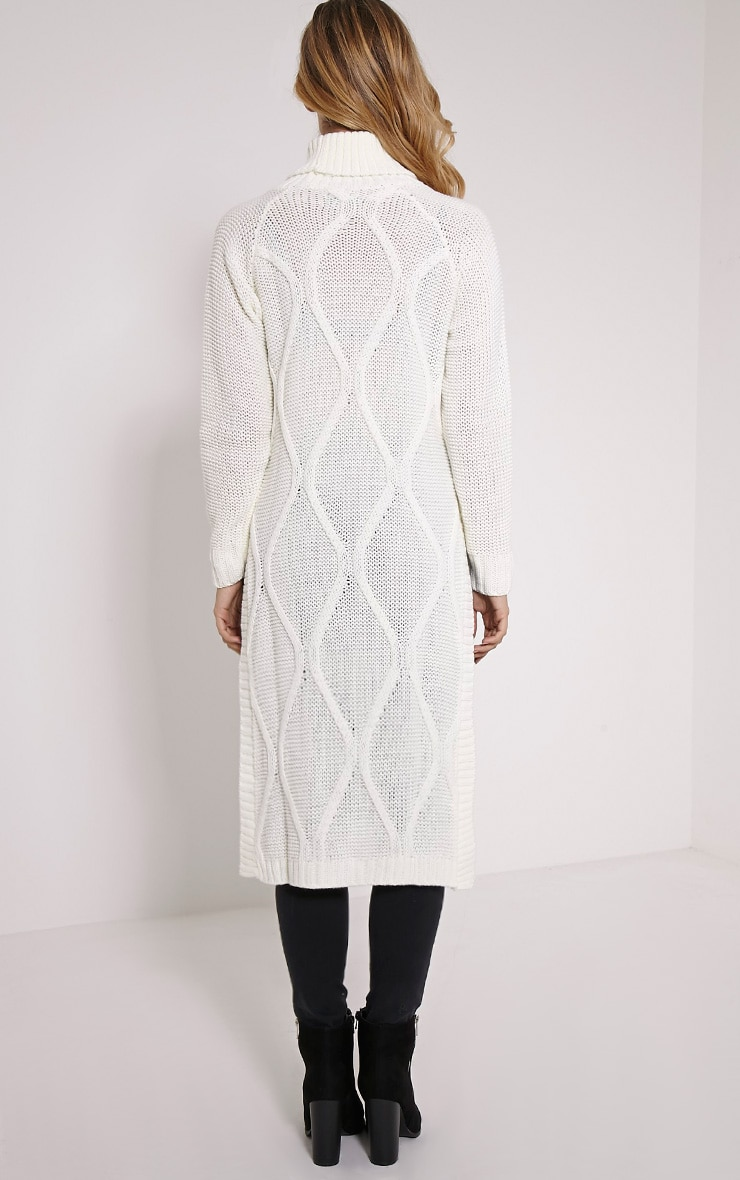 Lark Cream Cable Knit Side Split Jumper 2