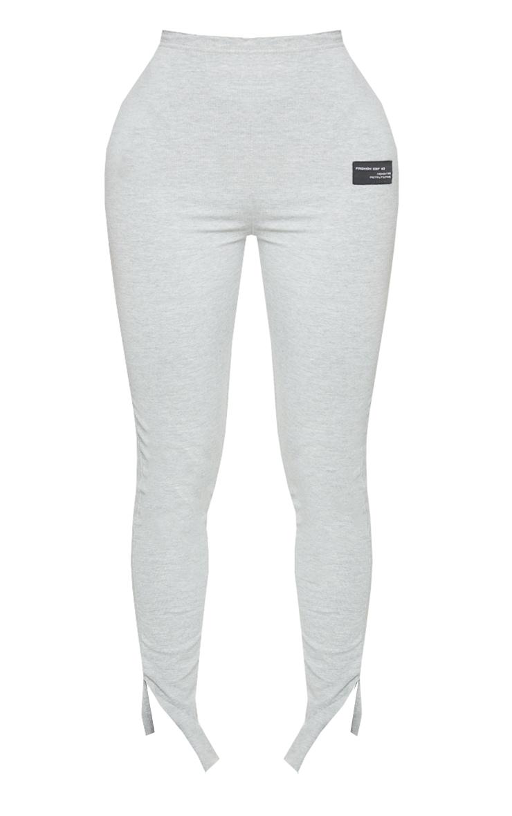 PRETTYLITTLETHING Shape Grey Split Hem Leggings 5