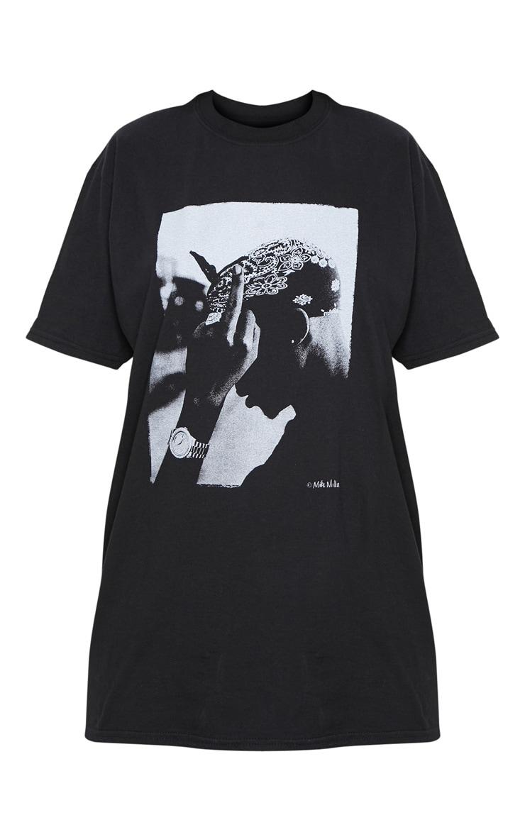 Black Tupac Oversized T Shirt 3