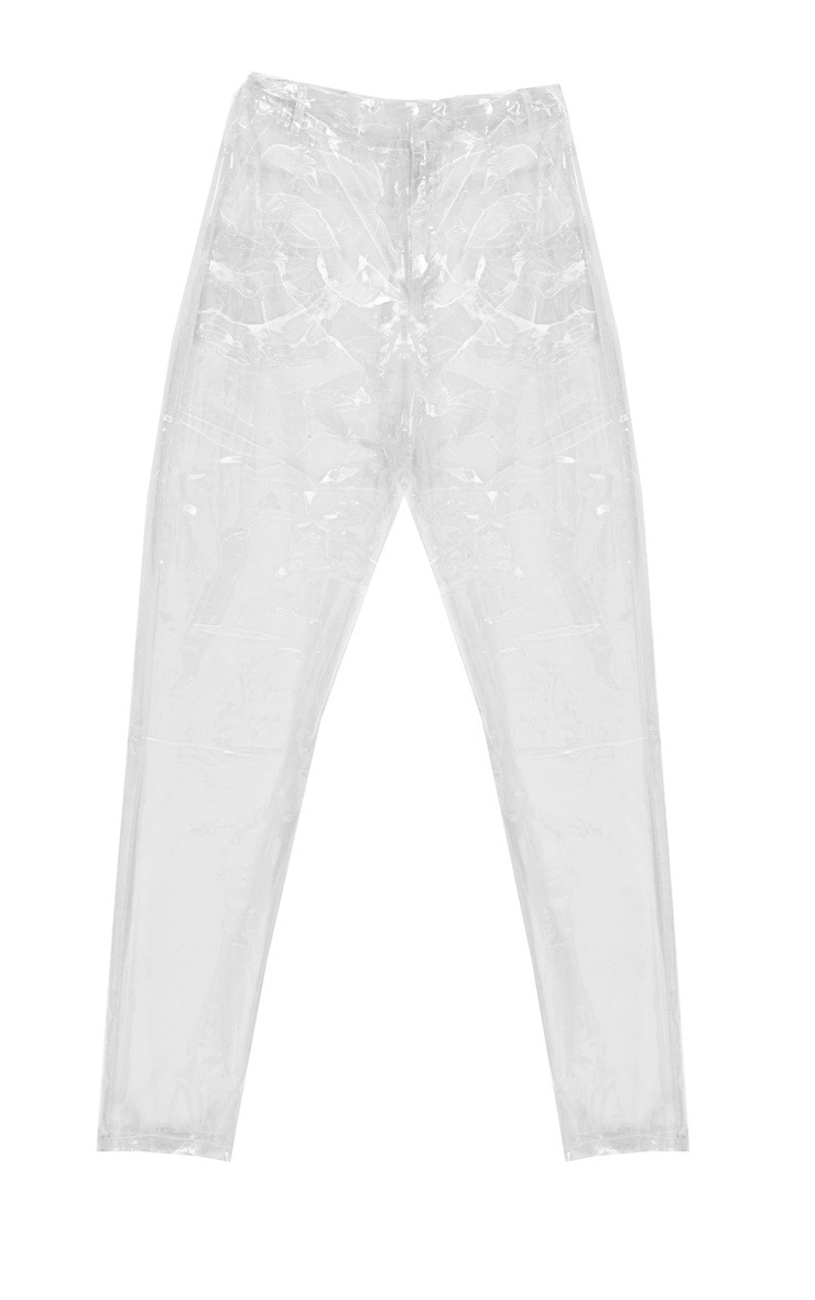 Petite Transparent Straight Leg Trousers 3