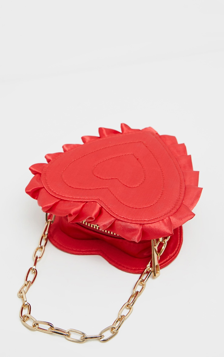 Red Satin Heart Mini Bag 2