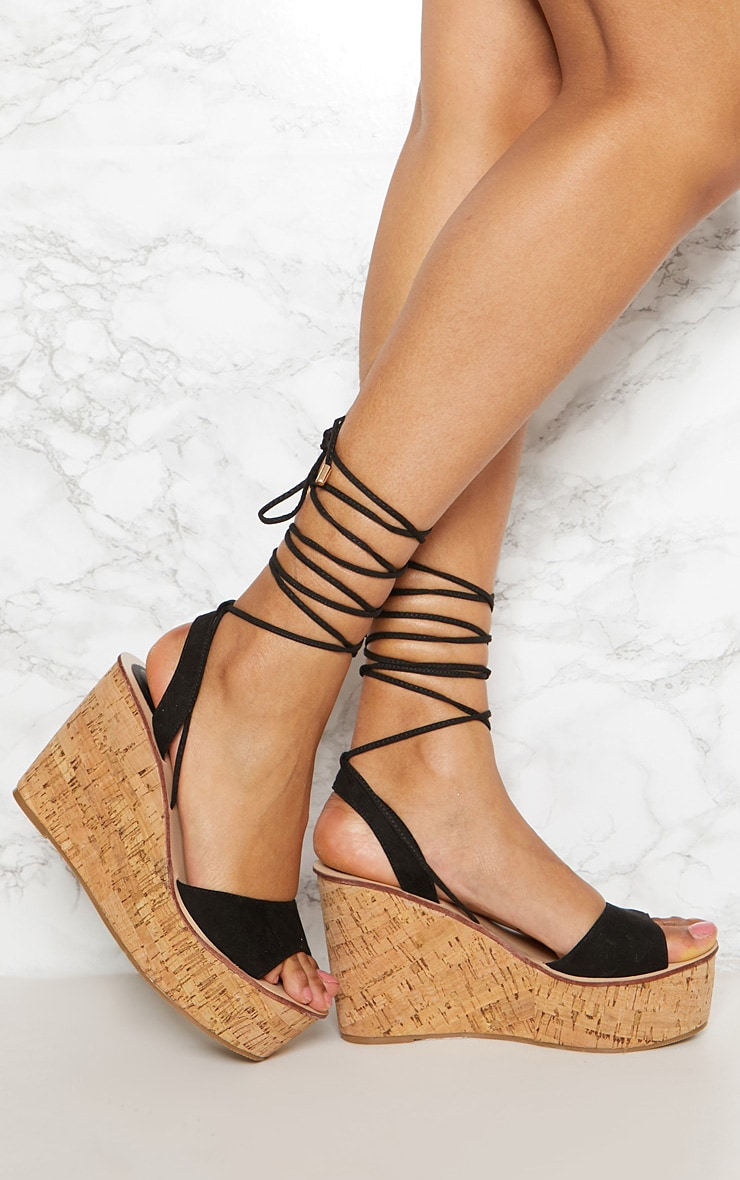 Black Cork Wedge 1