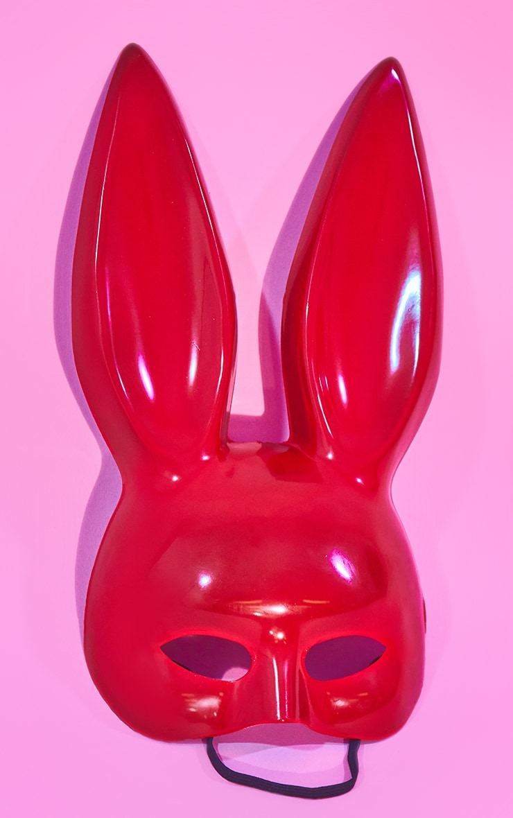 Red Larger Bunny Mask 2