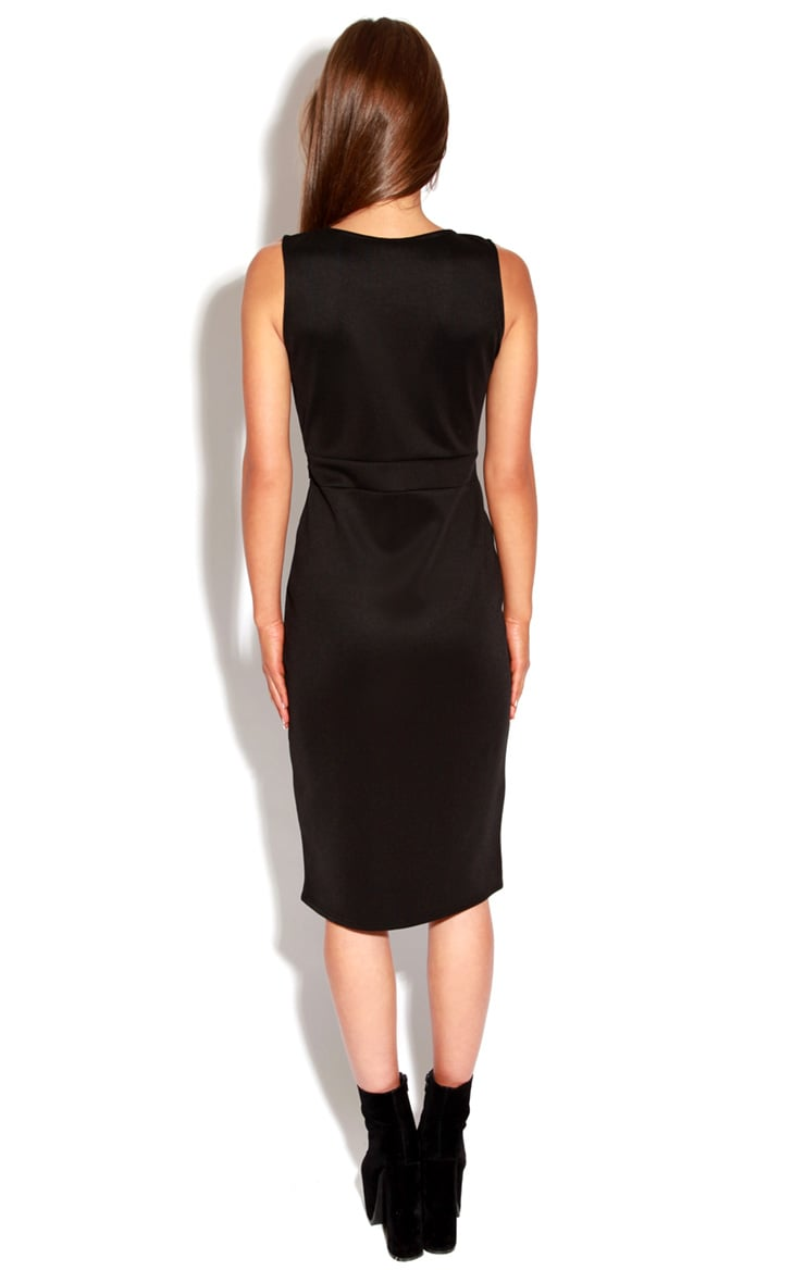 Briony Black Bodycon Midi Dress 4