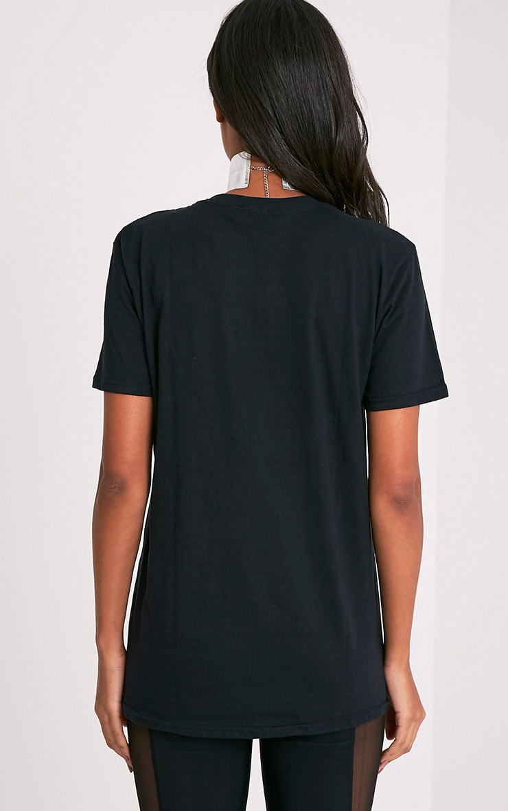 T-shirt boyfriend noir à slogan RAIDERS 4