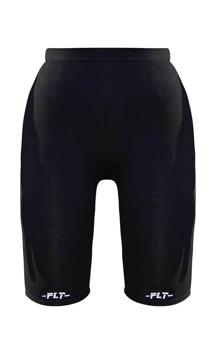 PRETTYLITTLETHING Tall Black Fitted Bike Shorts 5