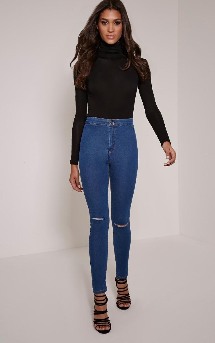 Leora Indigo Ripped Skinny Jean 1