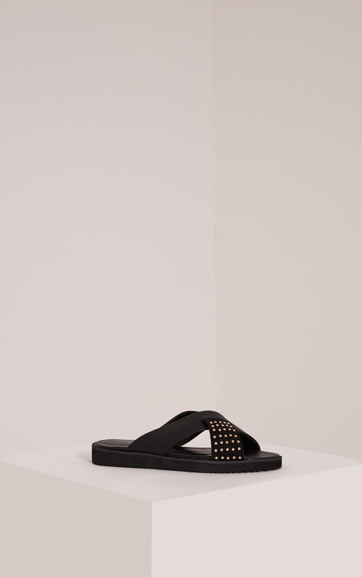 Aalia Black Stud Detail Sliders 3