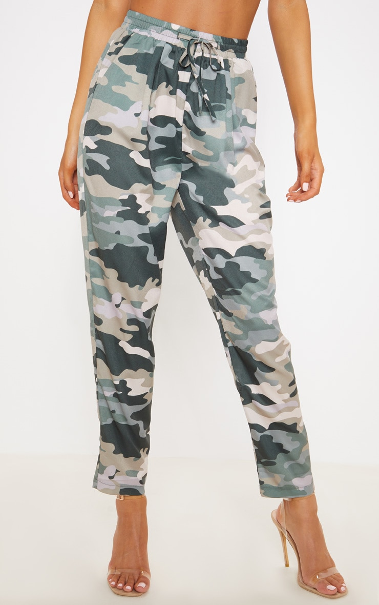 True Camo Print Cigarette Pants 2