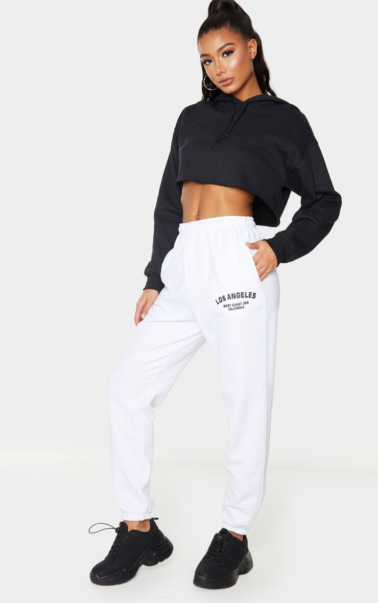 White Los Angeles Casual Jogger 1