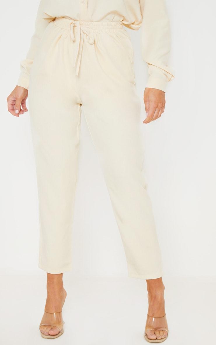 Pantalon cigarette crème 2
