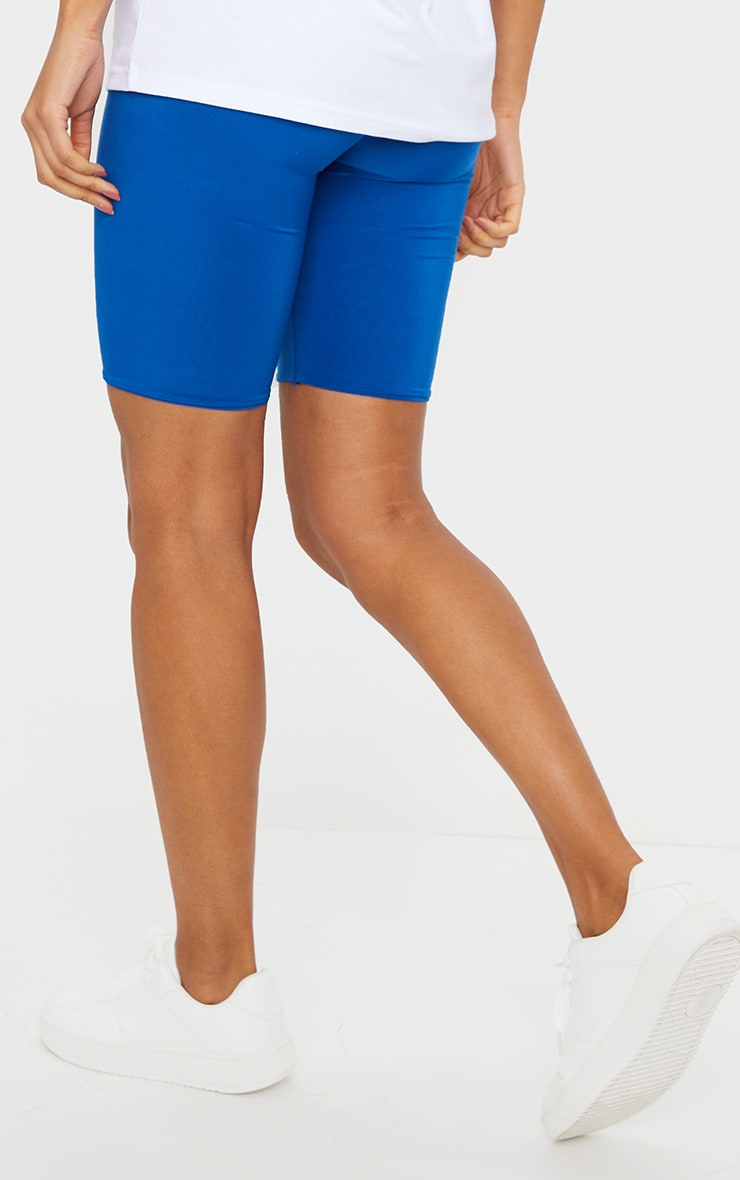 Cobalt Slinky High Waisted Cycle Shorts 3