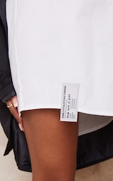 PRETTYLITTLETHING White Hem Detail Shirt Dress 4