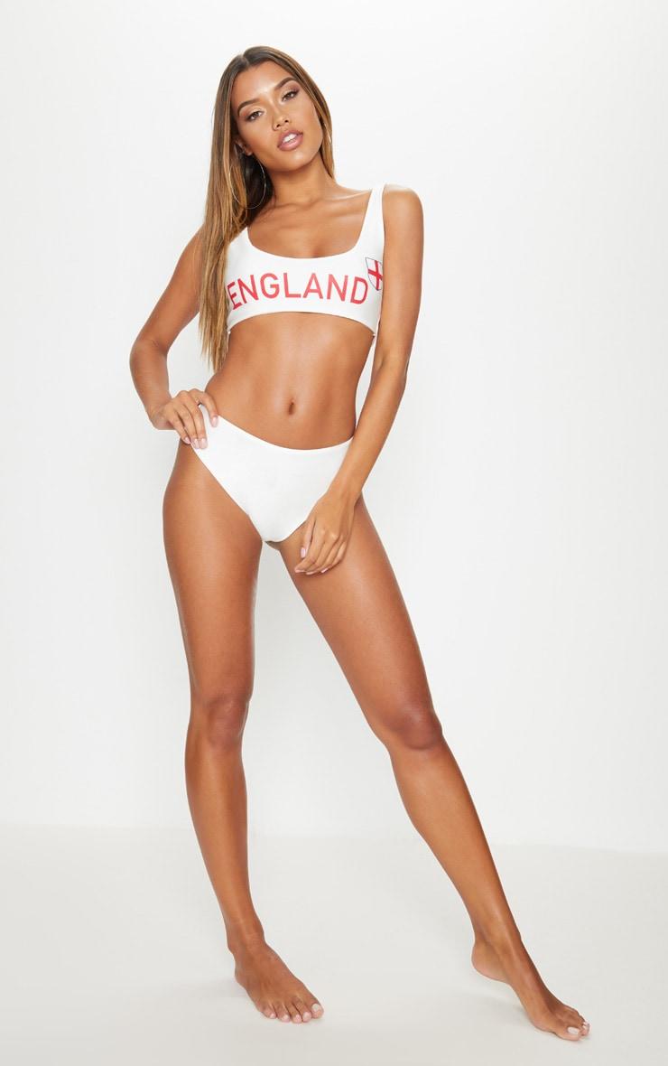 White England Football Bikini Set  4