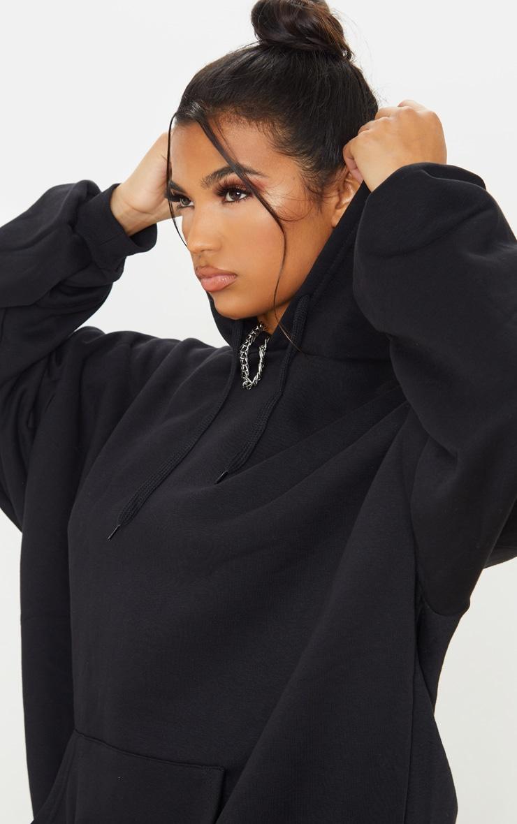 Hoodie oversize noir classique 5