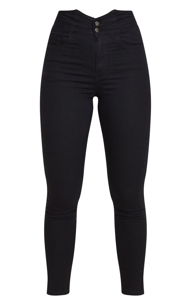 Black Super High Waist Disco Jeans 1