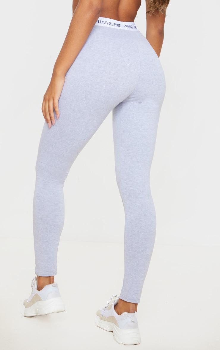 PRETTYLITTLETHING Grey Cotton High Waist Leggings 3