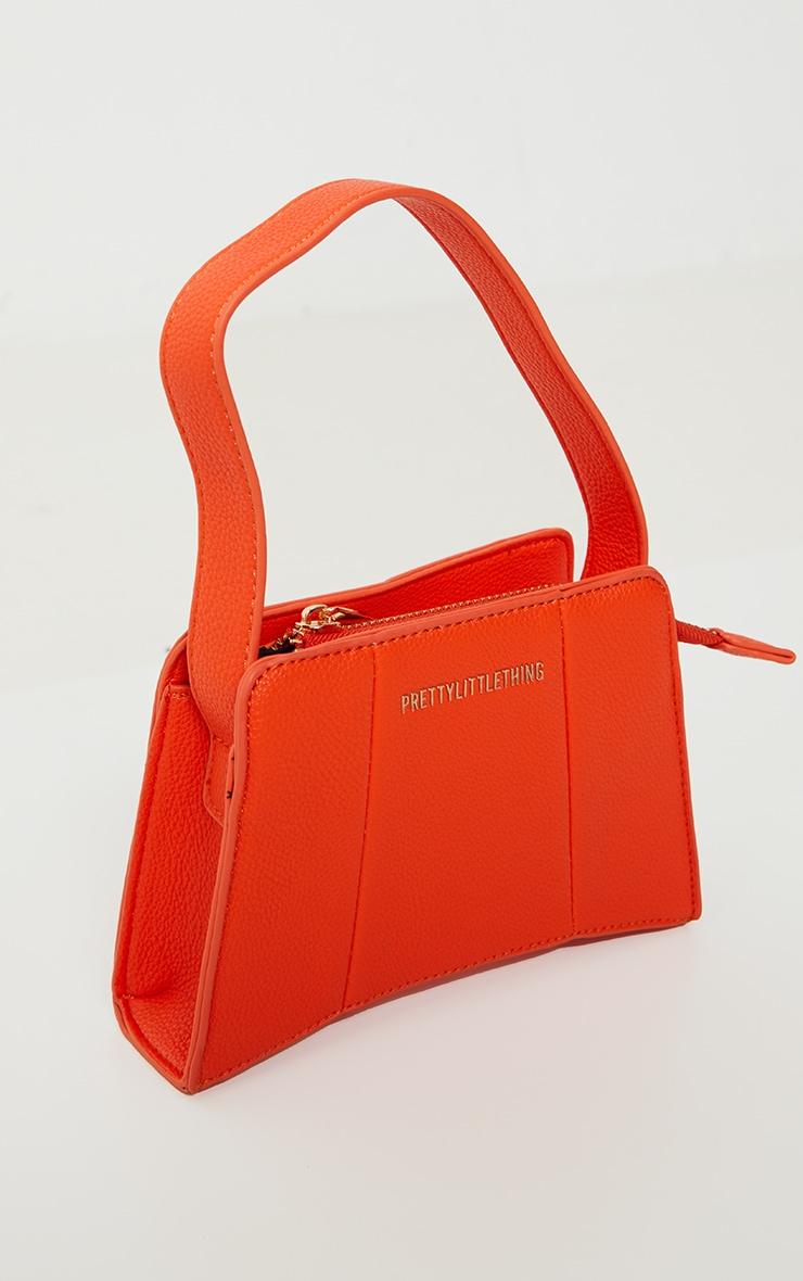 PRETTYLITTLETHING Orange Triangular Shoulder Bag 2