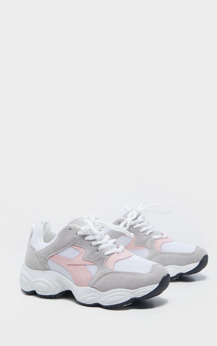 Grey Basic Chunky Sneakers 3