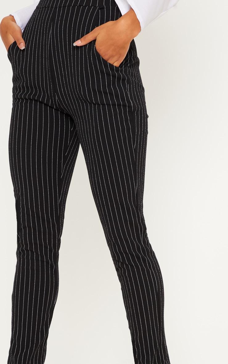 Pantalon à rayures noir 5
