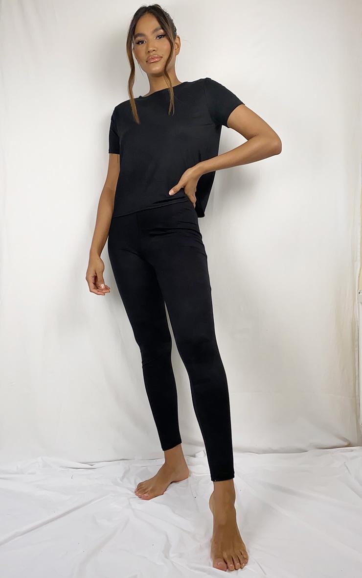 Black T-Shirt & Legging Set 1