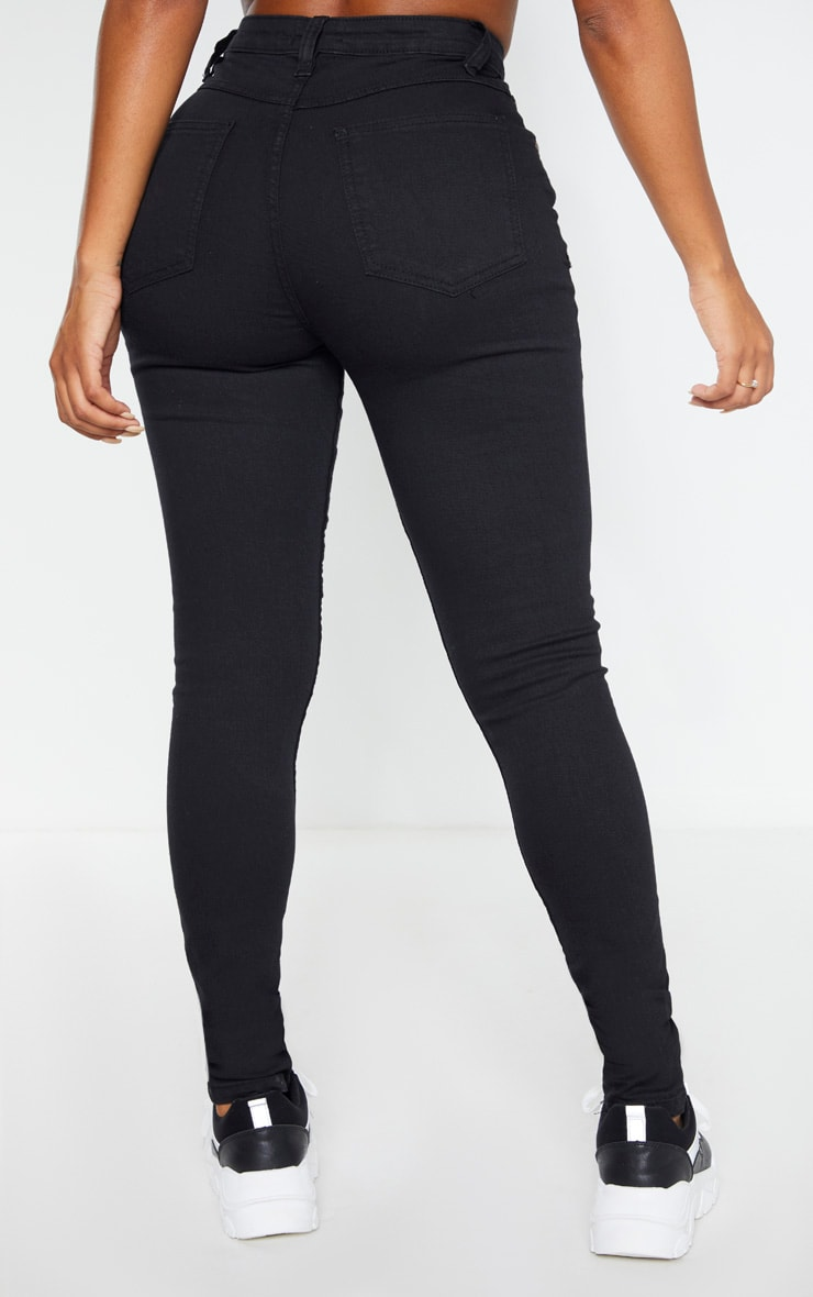Shape - Jean noir super stretch taille basse 4