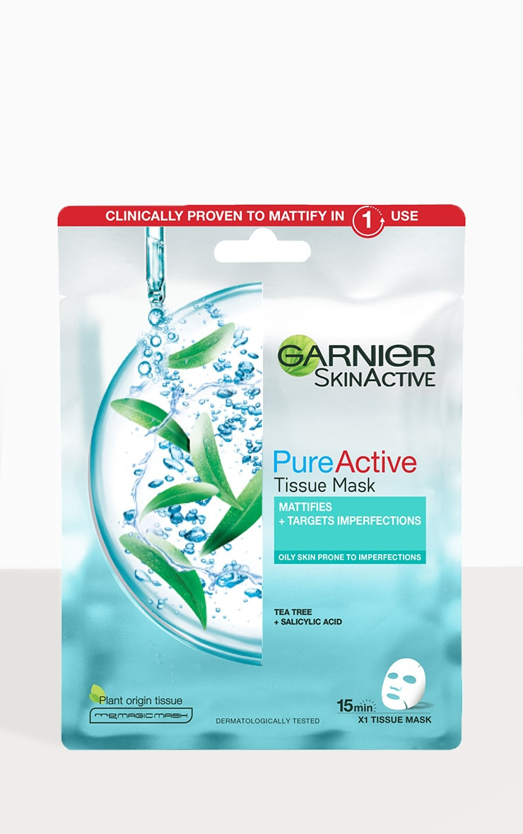 Garnier Pure Active Tea Tree and Salicylic Acid Sheet Mask 23g 2