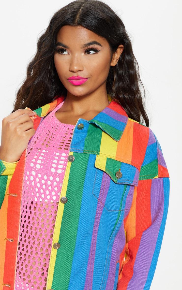 Multi Stripe Denim Jacket  6