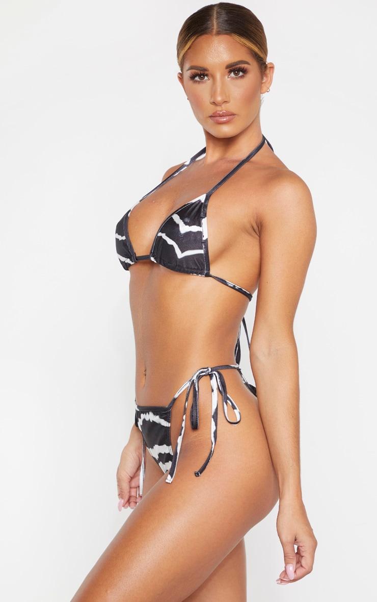 Black Tie Dye Tie Side Bikini Bottom 2