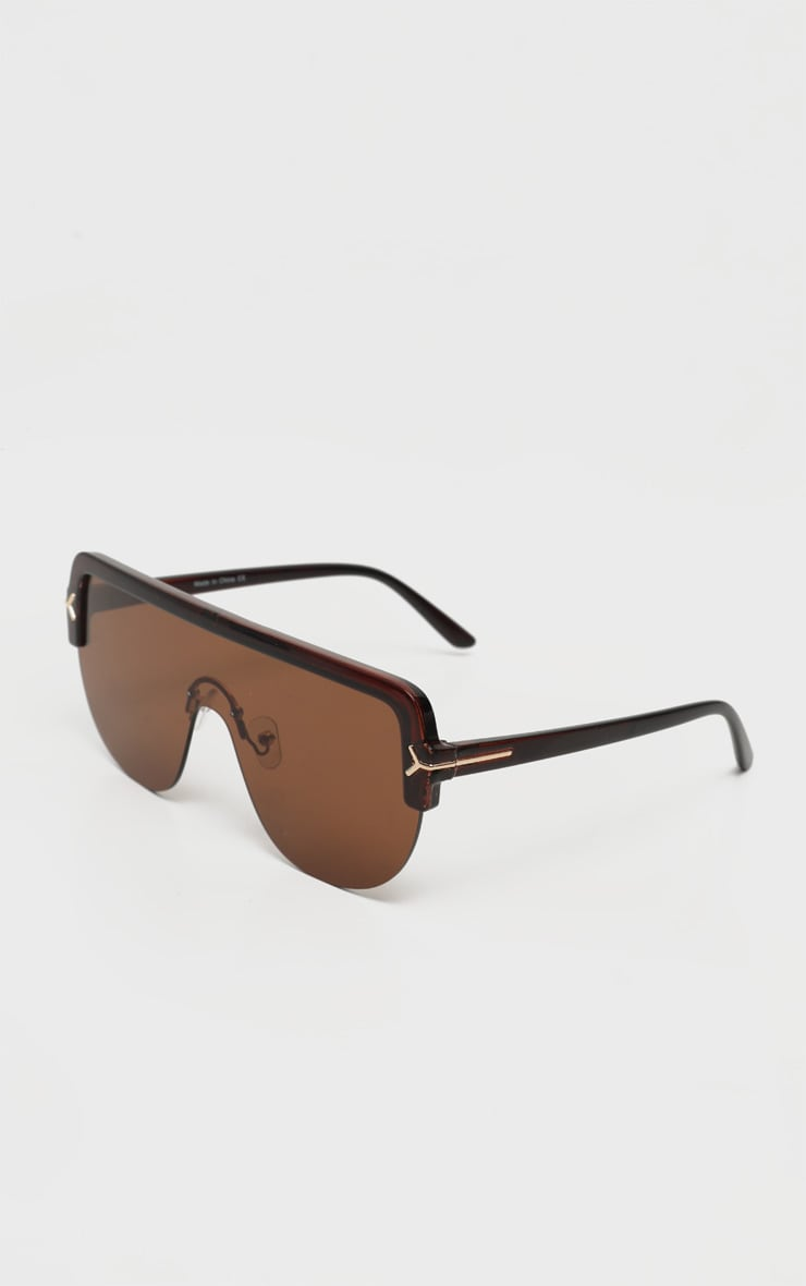 Brown Tinted Lens Tortoiseshell Frame Oversized Sunglasses 3