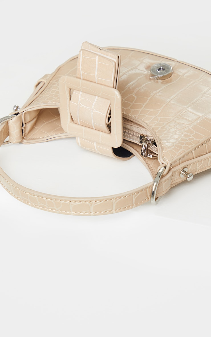 Nude Croc Mini Buckle Grab Bag 4