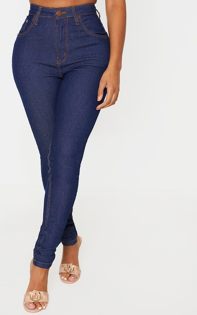 Shape Dark Indigo High Waist Super Stretch Skinny Jeans