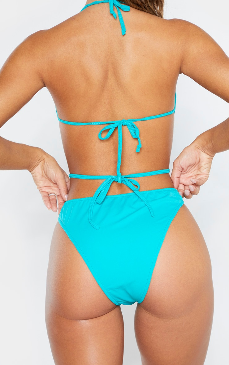 Bas de bikini bleu turquoise froncé 3