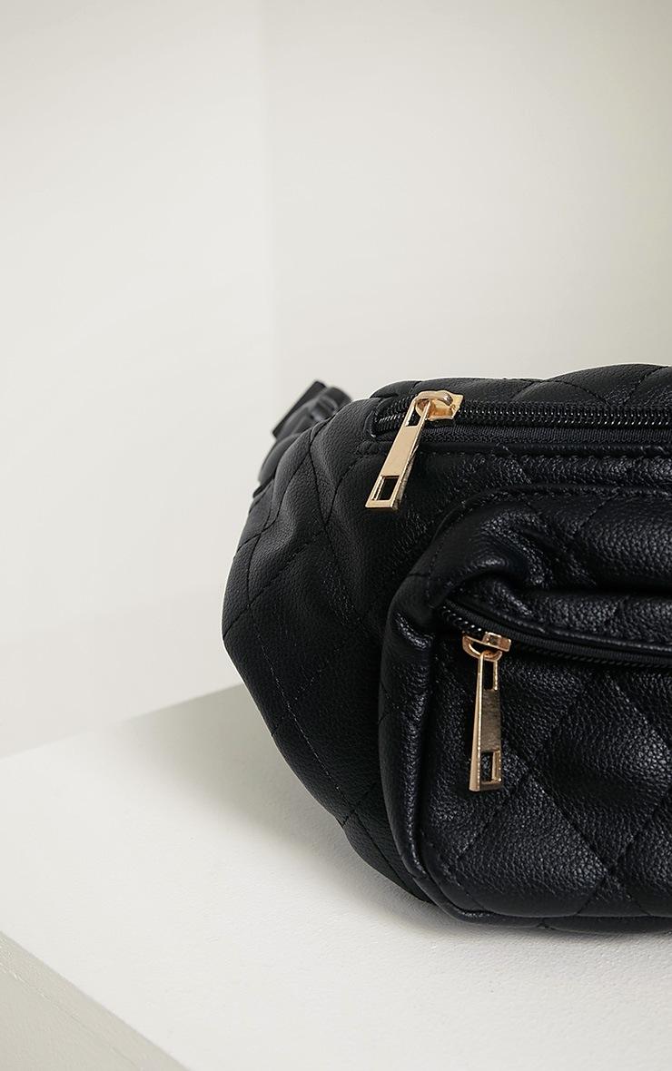 Brooke Black Quilted Bum Bag 5