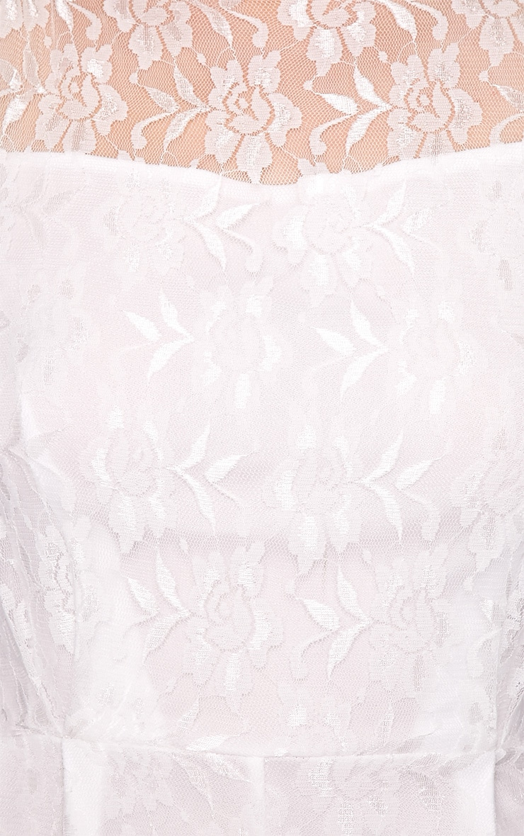 Aubree White Lace Playsuit  5