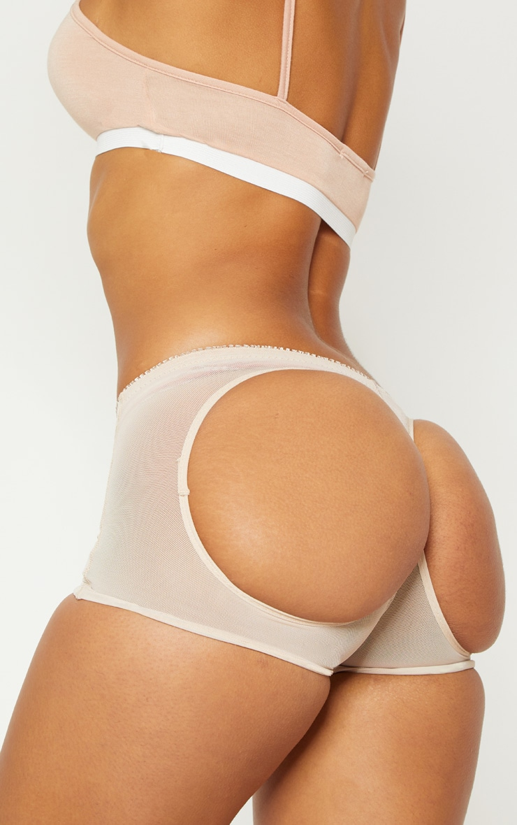 Nude Bum Lift Cut Out Knickers 1