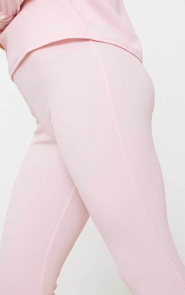 Pale Pink Cropped Trouser 5