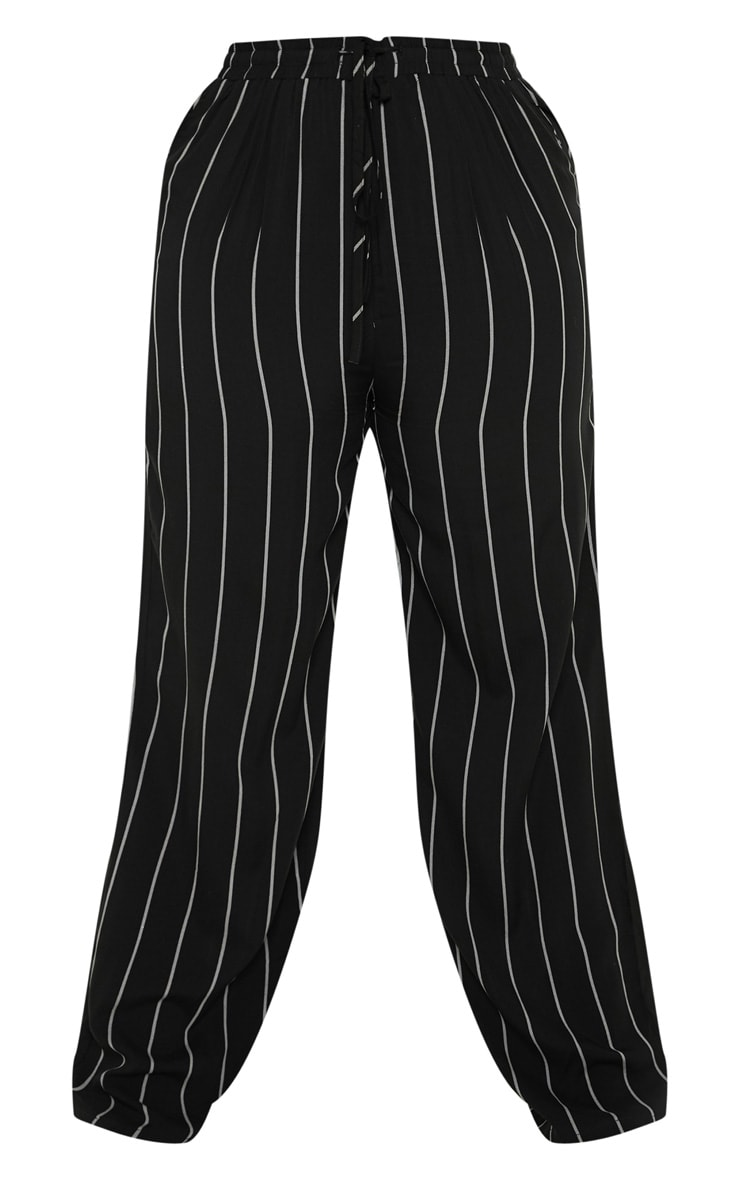 Plus Black Casual Wide Leg Trouser 3