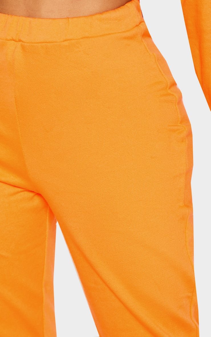Shape Bright Orange Elastic Bottom Joggers 5
