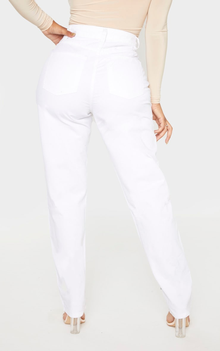 Shape White Mom Jeans 4