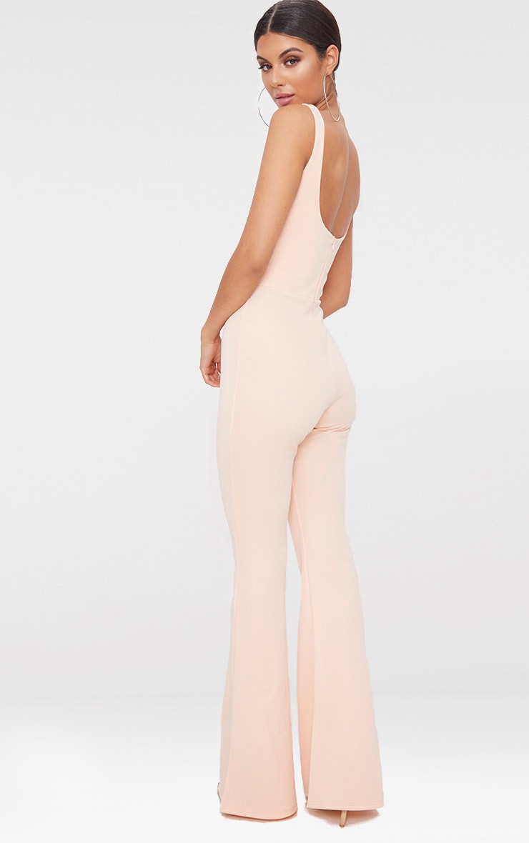 Nude Square Neck Seam Detail Jumpsuit 2