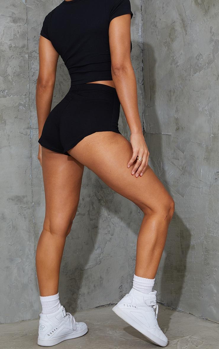 Black Basic Runner Short  3